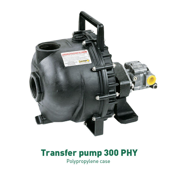 Agrotop centrifugal pumps driven by hydraulic motor for Hydraulic pump with motor